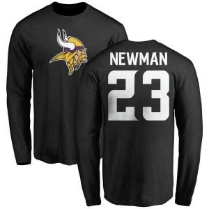 Terence Newman Minnesota Vikings Men's Black Pro Line Name & Number Logo Long Sleeve T-Shirt -